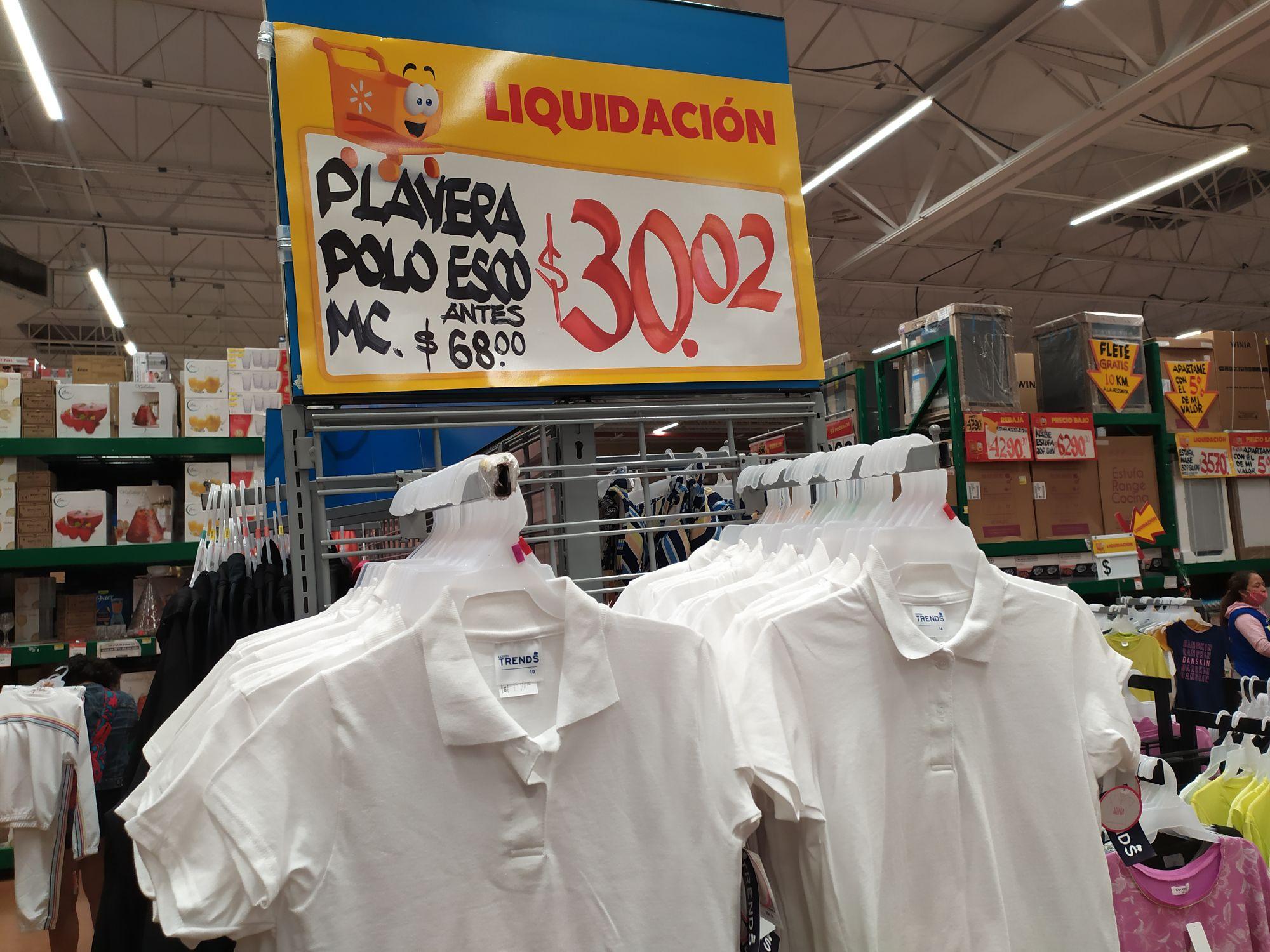 Walmart: Playera Polo Escolar Todas Las Tallas En Liquidacion.