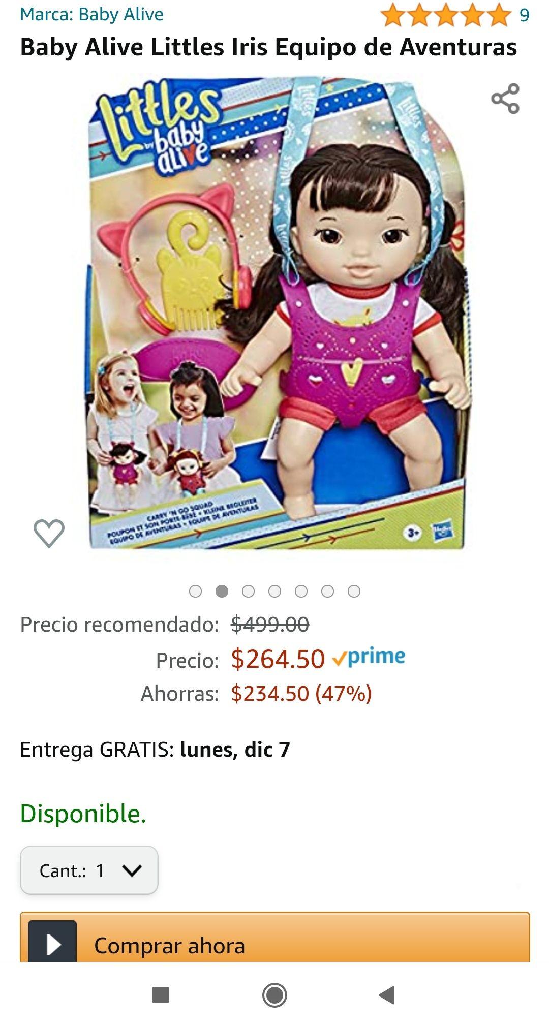 Amazon Baby alive iris envío gratis con prime