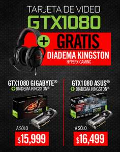 Mi PC: Tarjeta de video GTX1080 + diadema Kingston
