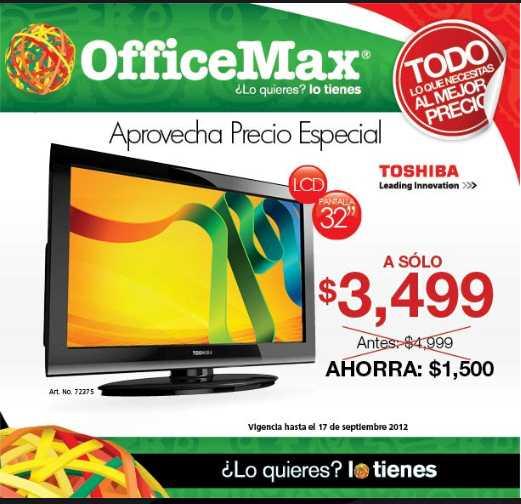 OfficeMax: pantalla LCD Toshiba a $3,499, 25% de descuento en accesorios Logitech y más