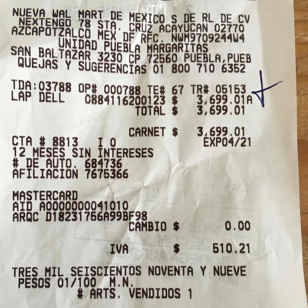 Bodega Aurrerá: Laptop Dell Inspiron 3458 a $3,699.01