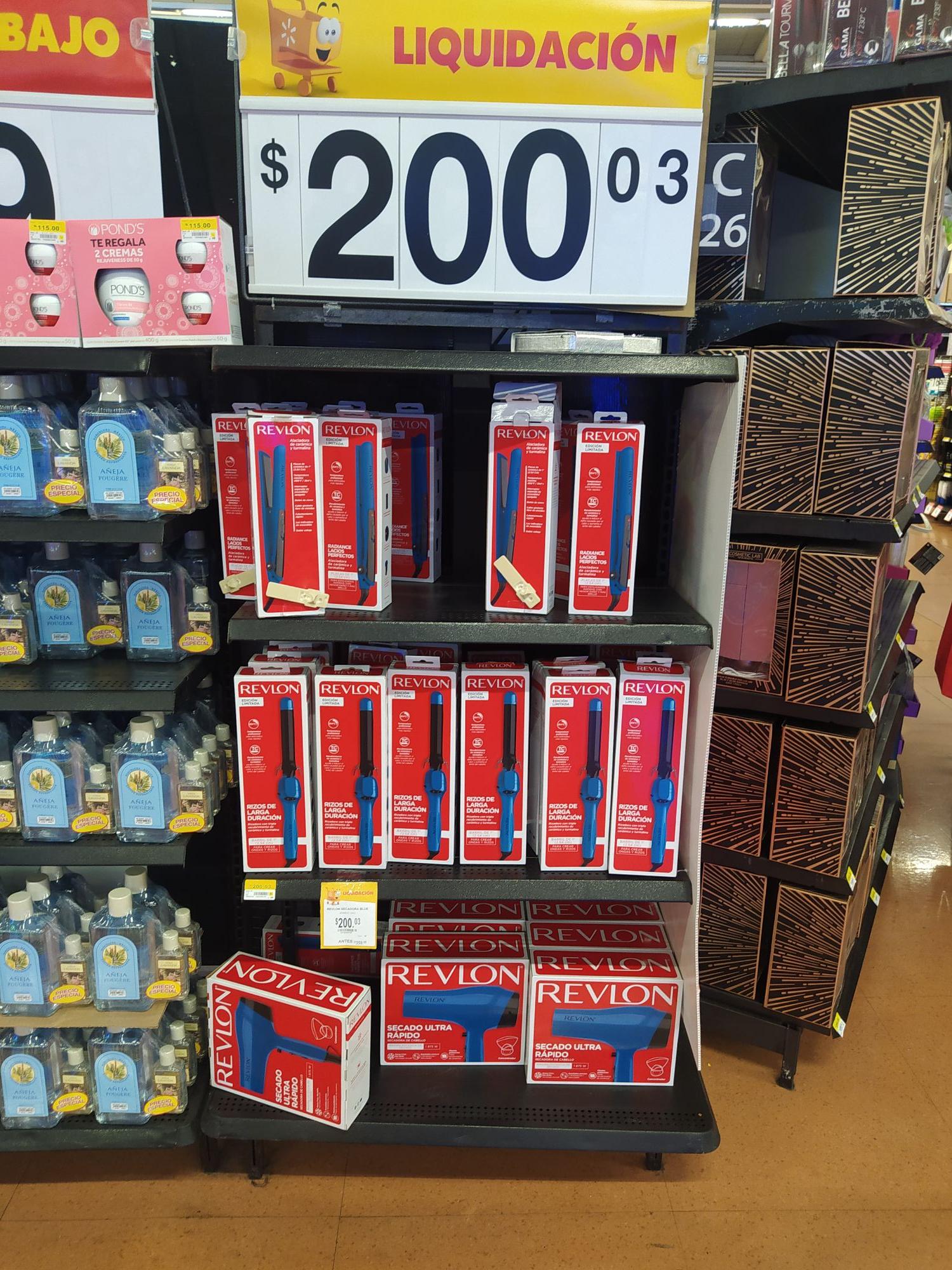 Walmart: Secadora o plancha Revlon en liquidación