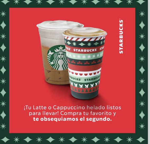 Starbucks: 2x1 latte y capuccino