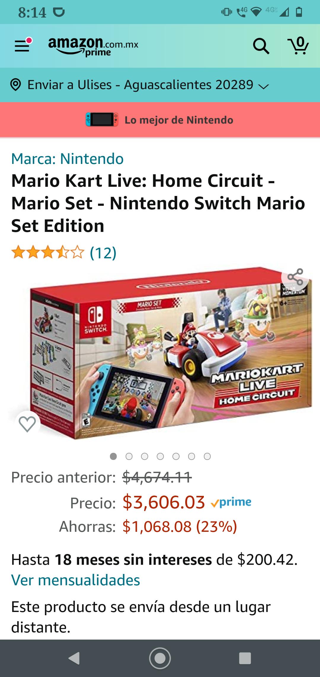 Amazon: Mario kart live: home circuit
