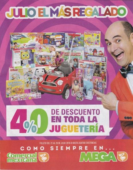 Promoción de Julio Regalado 2016 en Soriana y Comercial Mexicana: 40% de descuento en toda la juguetería