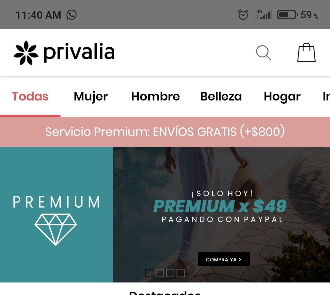 Privalia: Premium por $49