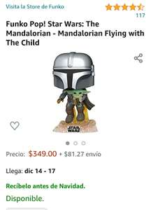 Amazon : Funko Pop! Star Wars: The Mandalorian - Mandalorian Flying with the child