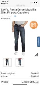 Costco: Jeans Levi's 511 slim fit caballero