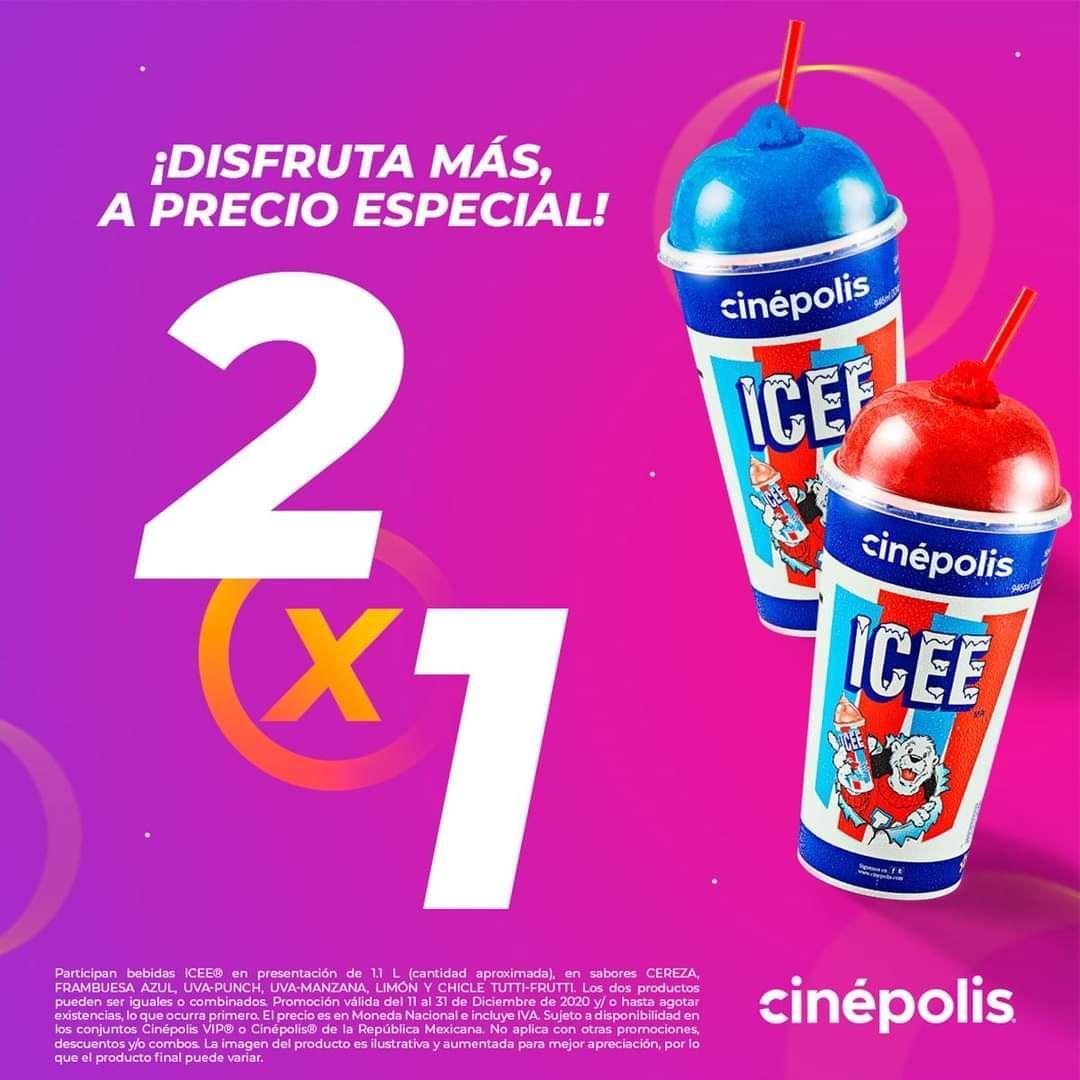 Cinepolis: Icee 2x1 (11 al 31 de diciembre)