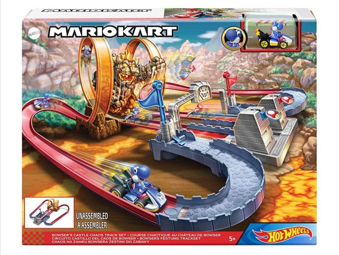 Amazon, Pista Mario Kart de Hot Wheels. Castillo Bowser