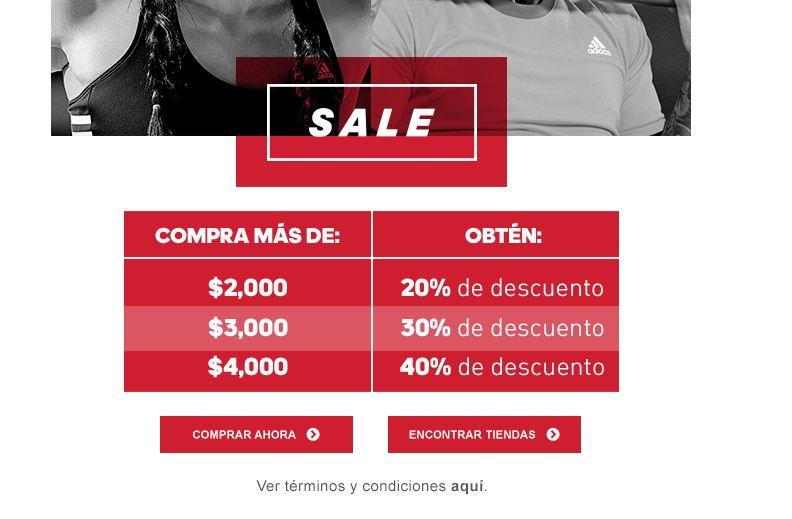Adidas en línea: descuento adicional por monto de compra