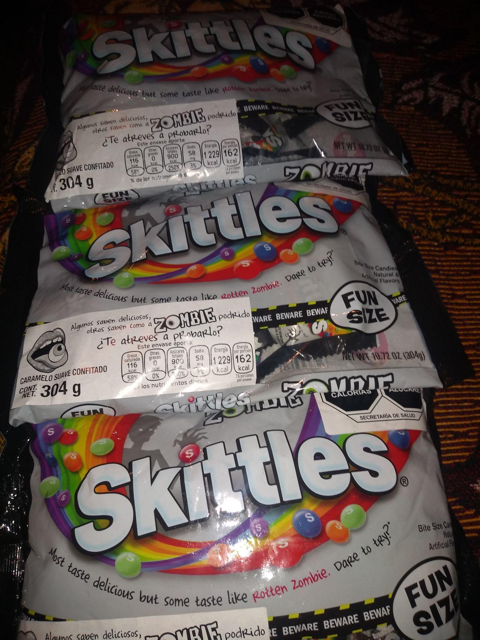 Walmart perinorte dulces skittles y paleta de sombras Maybelline