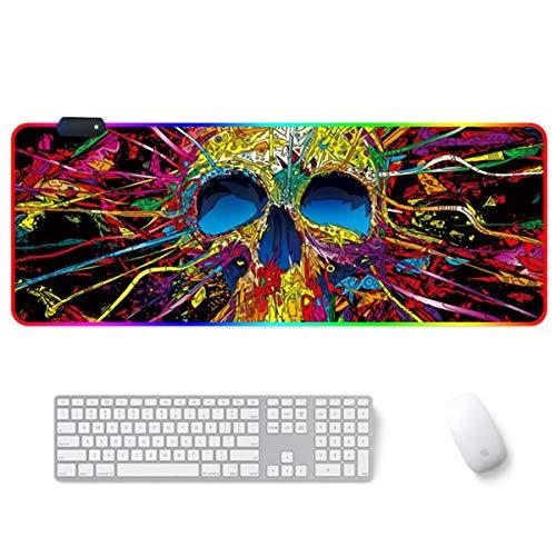 "Amazon: Mouse Pad XXL (80 x 30 cm) LED-RGB ""Calavera"""