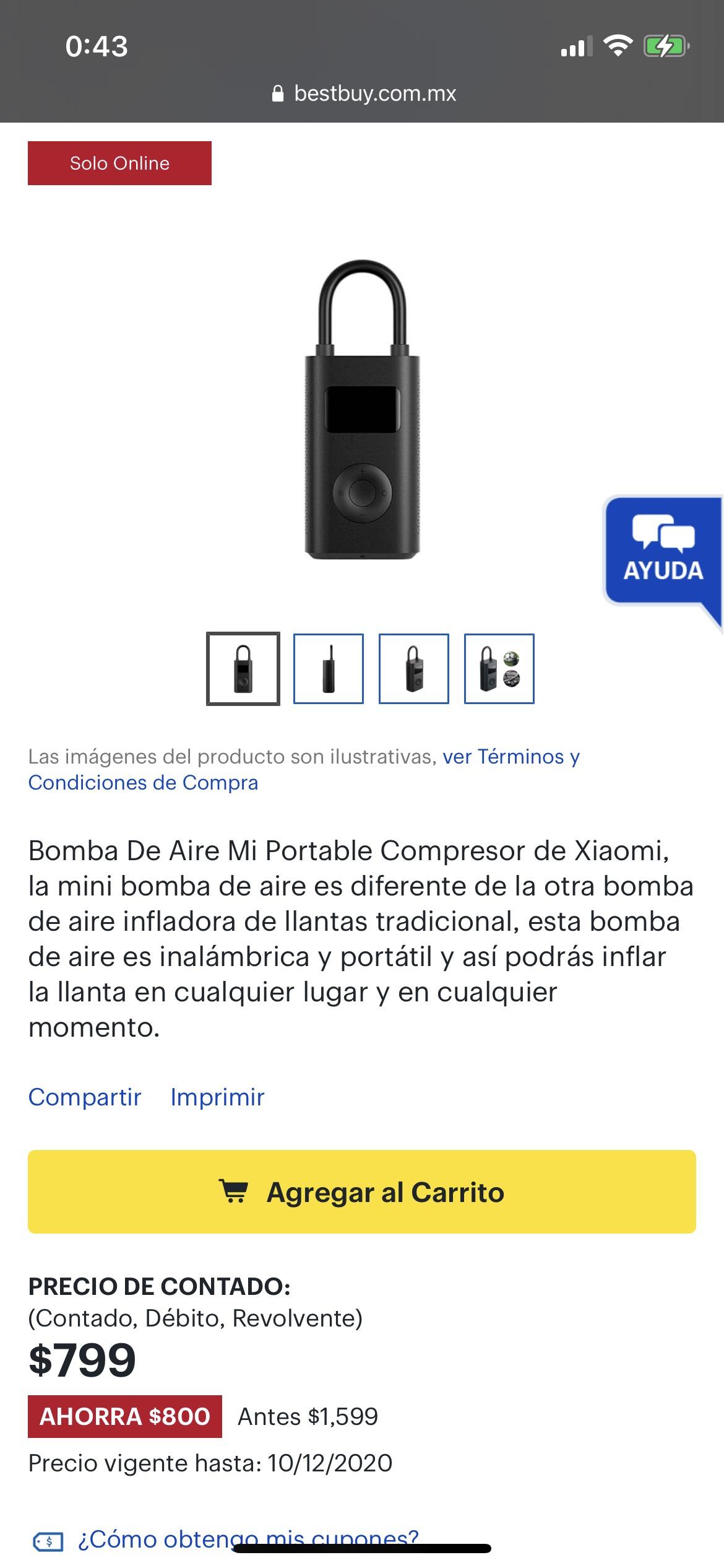 Best Buy: Bomba de Aire Xiaomi
