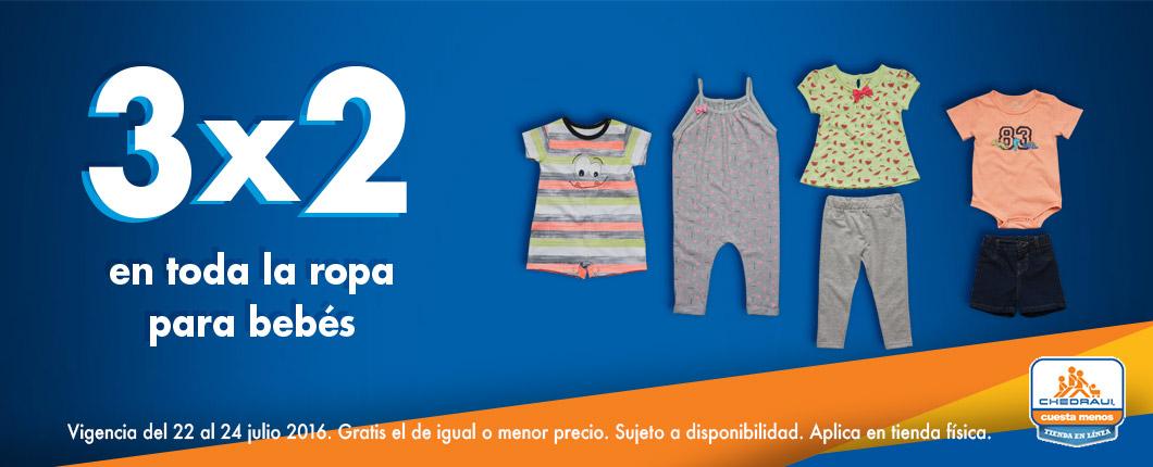 Ofertas del fin de semana en Chedraui: 3x2 en toda la ropa para bebés, blusas, camisas, cereales Nestlé y más