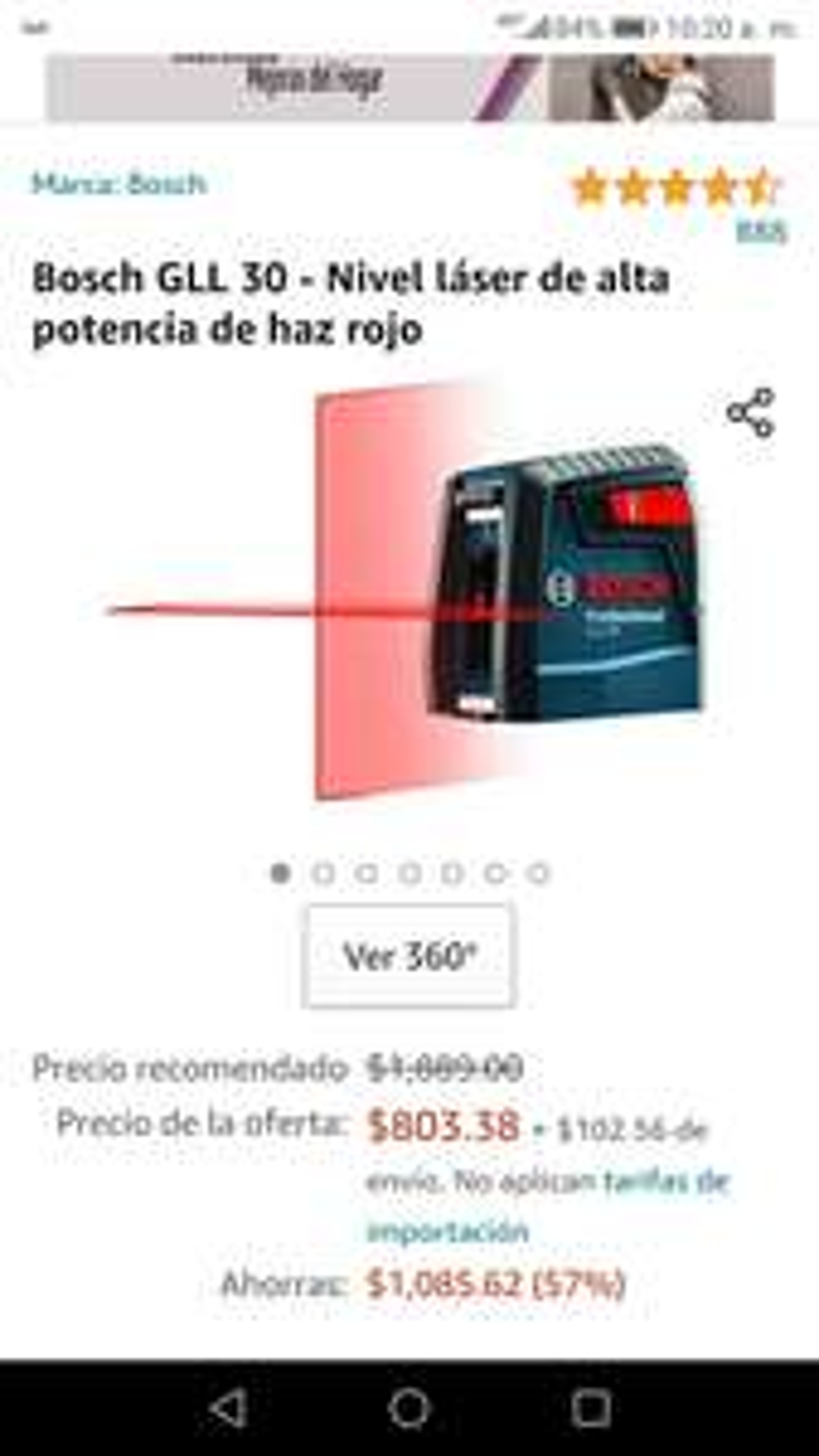 Amazon Nivel bosch de laser