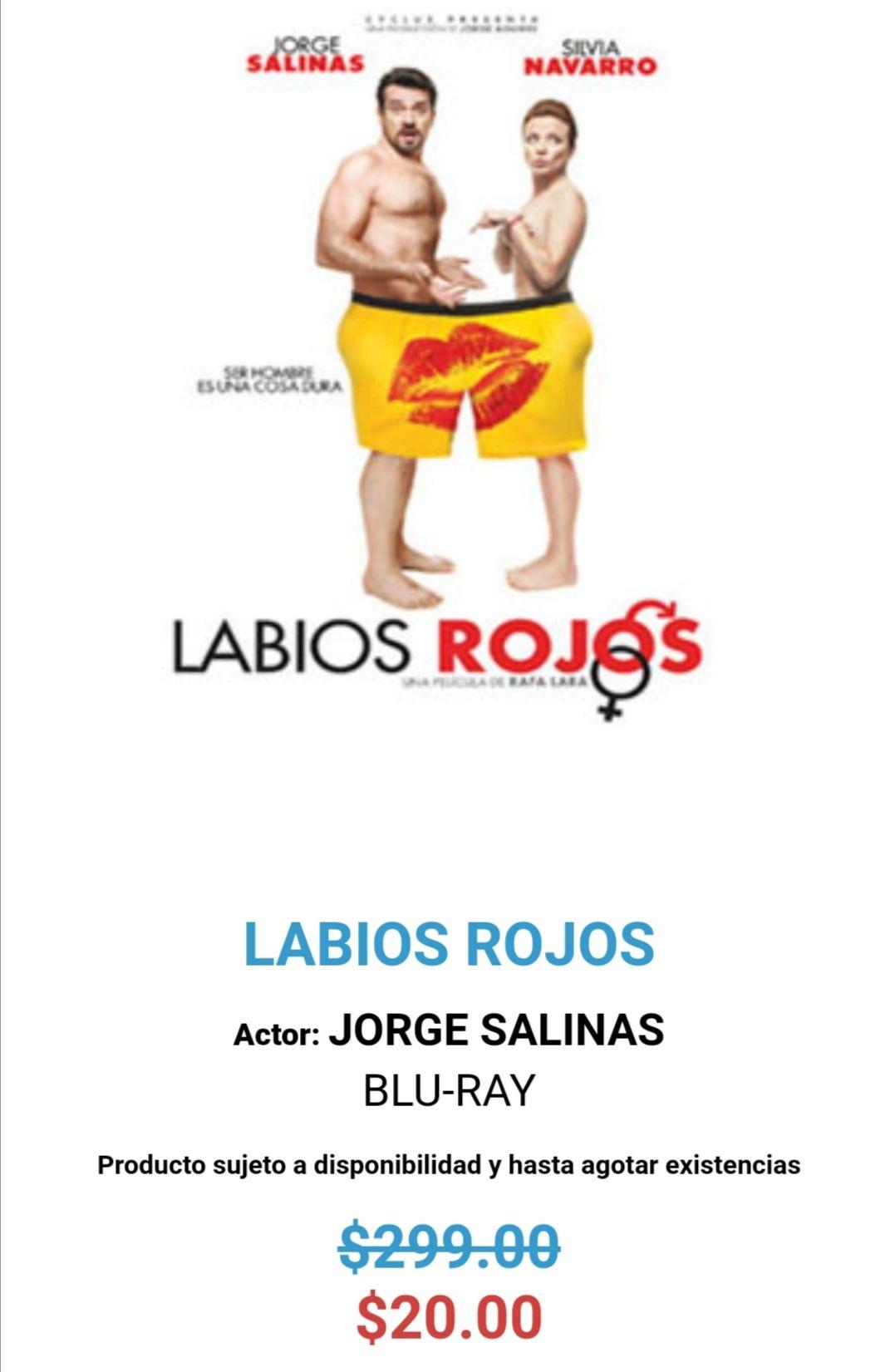"MIXUP: Bluray ""Labios Rojos"""