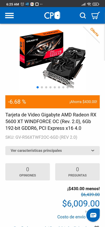 cyberpuerta: Gigabyte RX 5600 XT 6GB REV2.0
