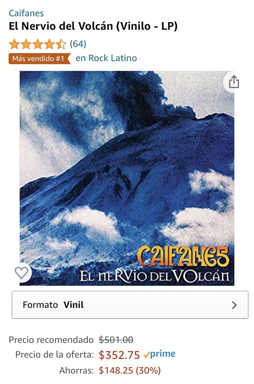 Amazon: Vinyl caifanes en descuento