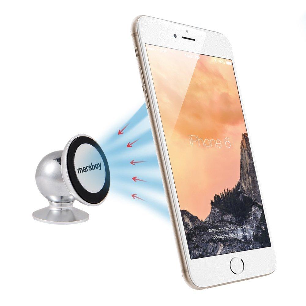 Amazon: Marsboy SX-003 - Soporte Metálico Rotación 360° con Imán Magnético de Coche para Teléfono Móvil iPhone Samsung o GPS