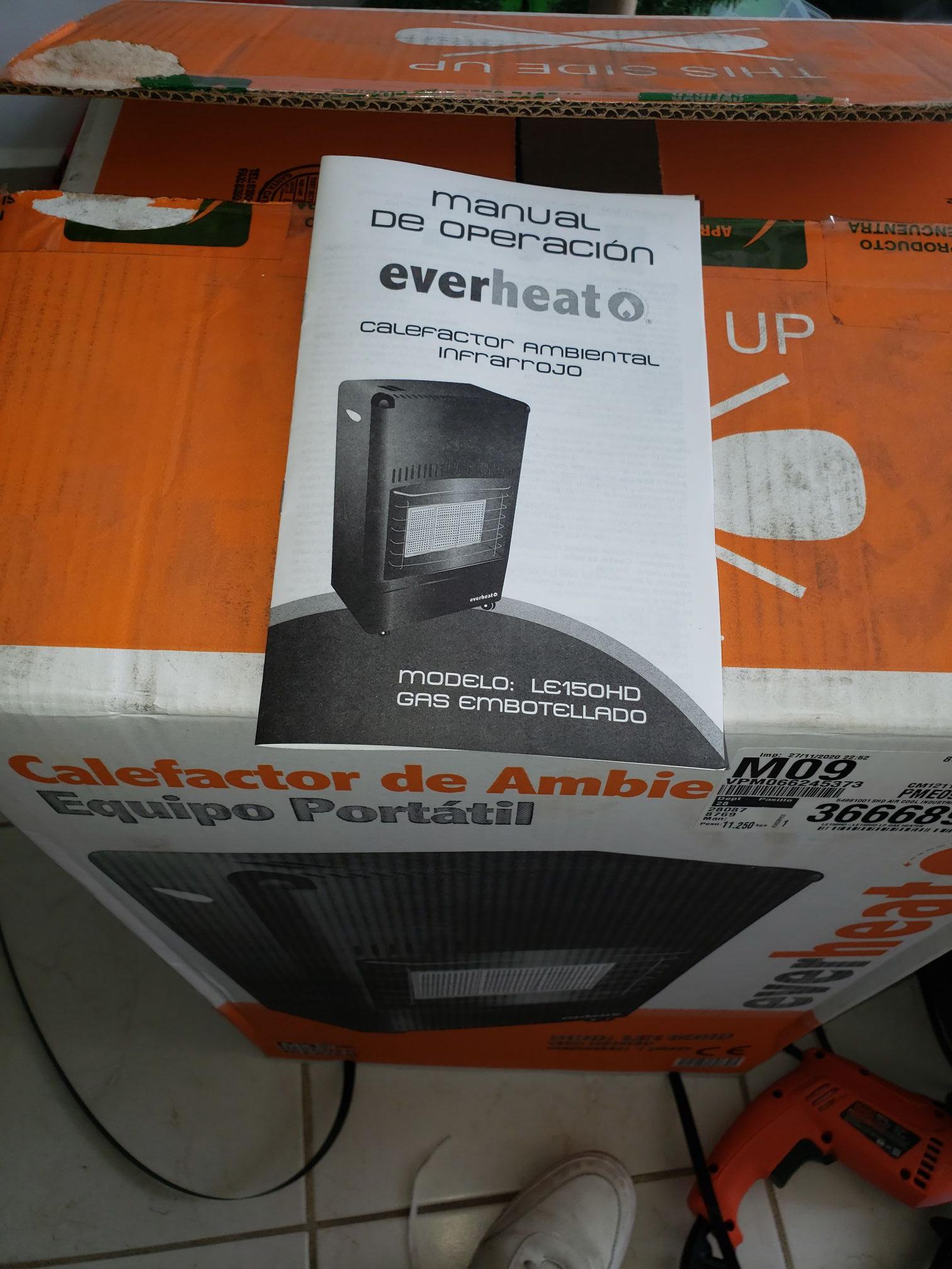 Home Depot Calefactor de gas (Ags)