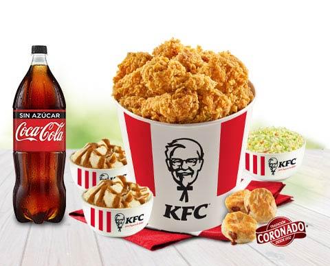 KFC: Bucket Navideño 18 pzas