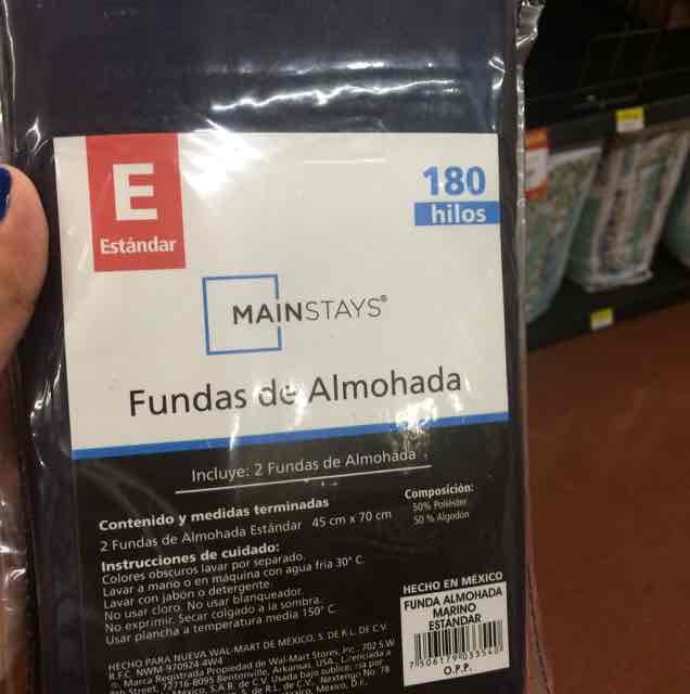 Walmart Comalcalco: Fundas para almohada Mainstays a $20.01