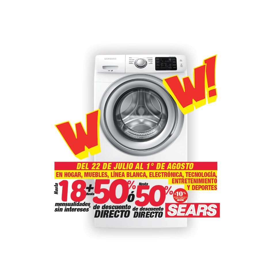 Sears: hasta 50% de desc. Hogar, Muebles, Línea Blanca, Electrónica, Tecnología, Entretenimiento y Deportes