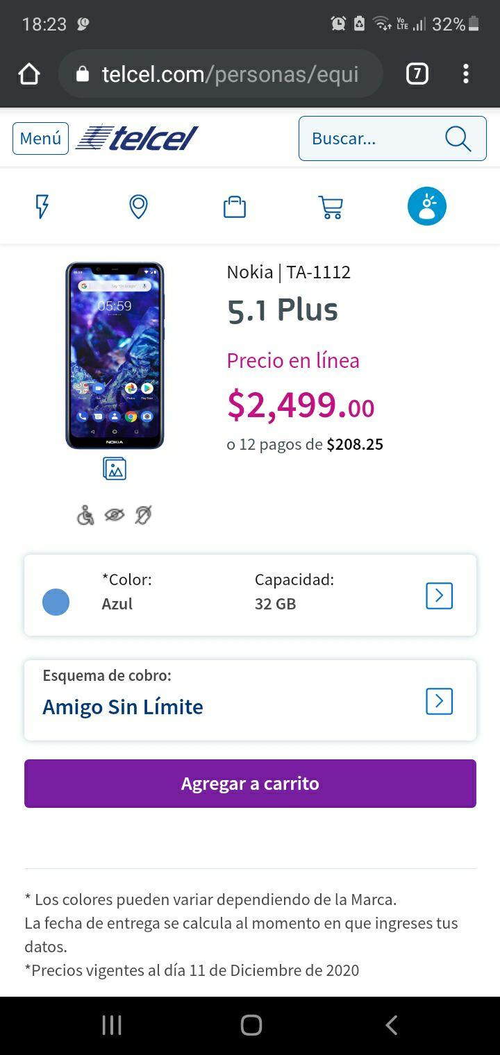 Telcel: Nokia 5.1 plus