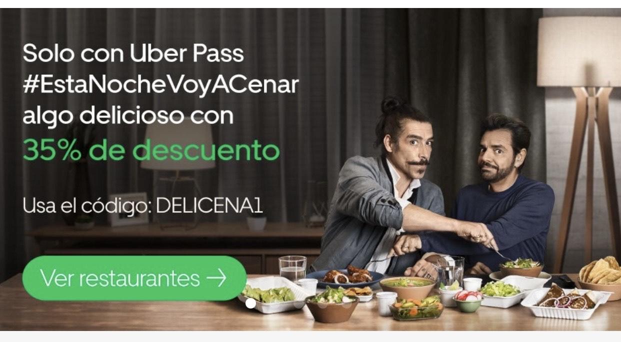 Uber Eats: 35% descuento