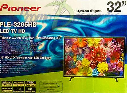 """Walmart Tiendas: Liquidación Televisores Pioneer 32"""" HD PLE-3205HD"""