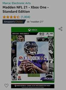 Amazon: Madden NFL 21 - Xbox One - Standard Edition