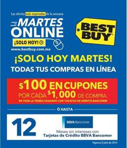 Martes online Best Buy Bancomer julio 8