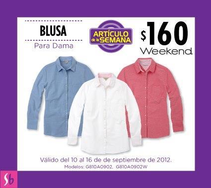 Artículo de la semana en Suburbia: blusa para dama a $160