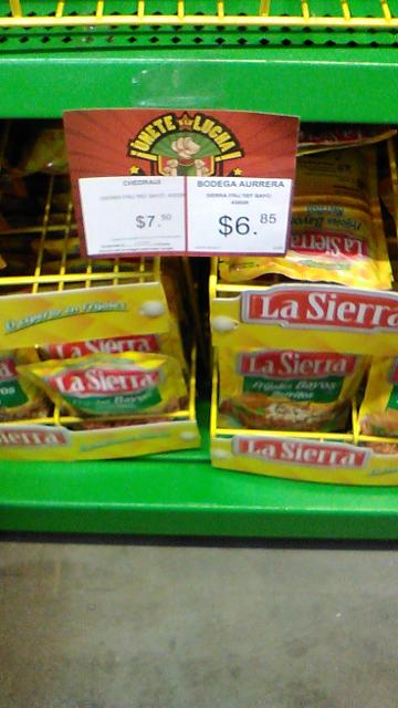 Bodega Aurrerá: frijoles la sierra 220g $3.20 y 430g $6.85