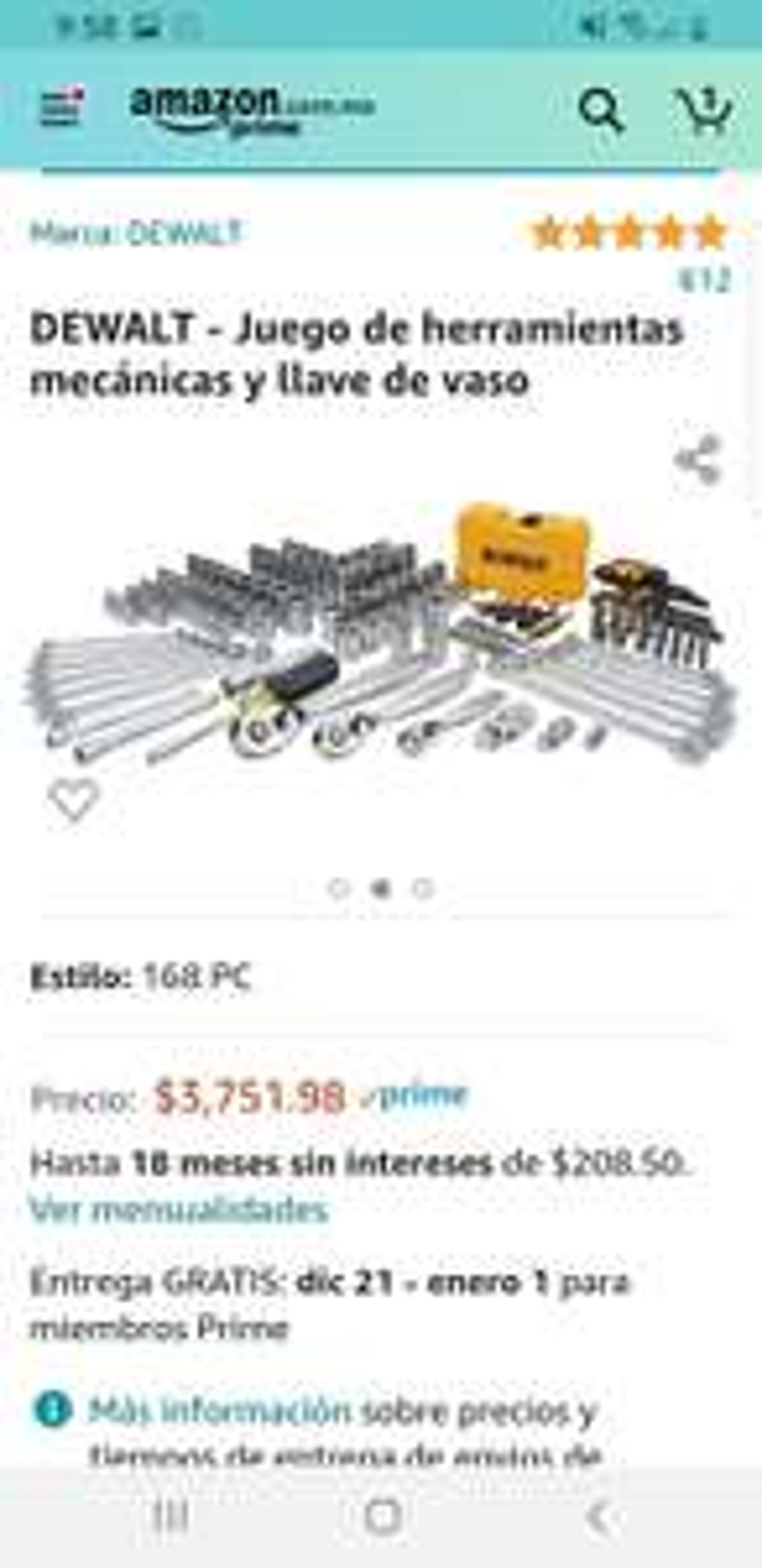 Amazon: 168 piezas DeWalt