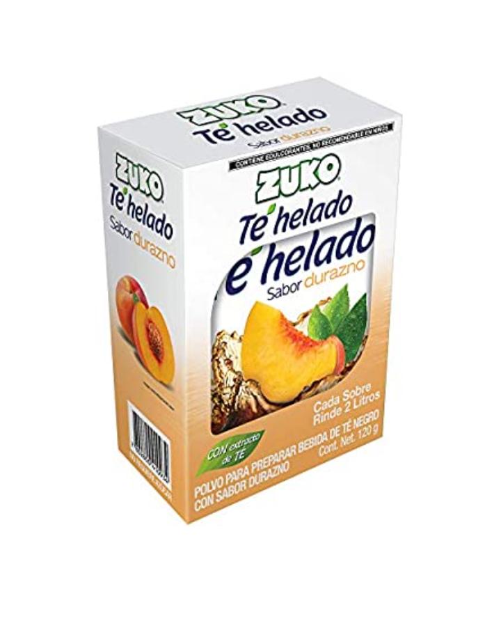 Amazon: Zuko Té Negro Durazno, 120 g, Display con 8 Sobres