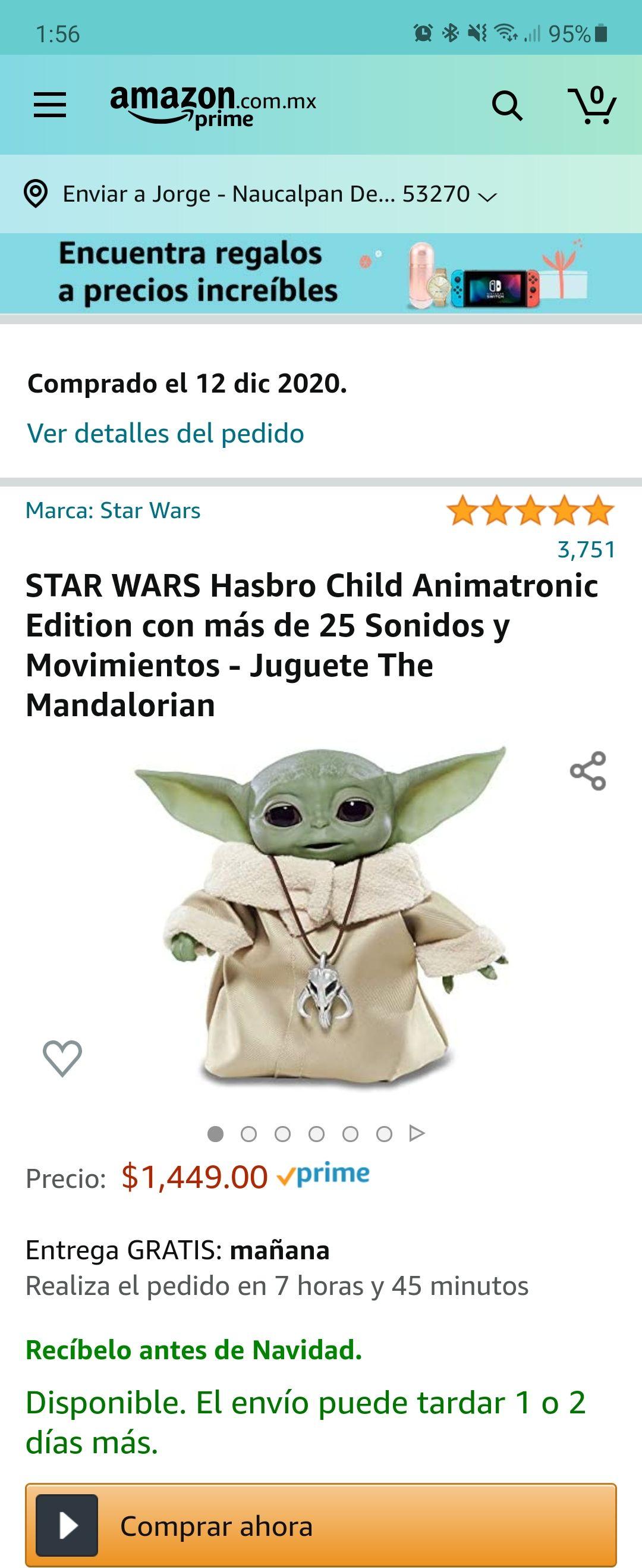 Amazon: Baby Yoda The Child Animatronic
