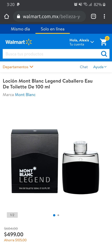 Walmart: perfume Montblanc Legend