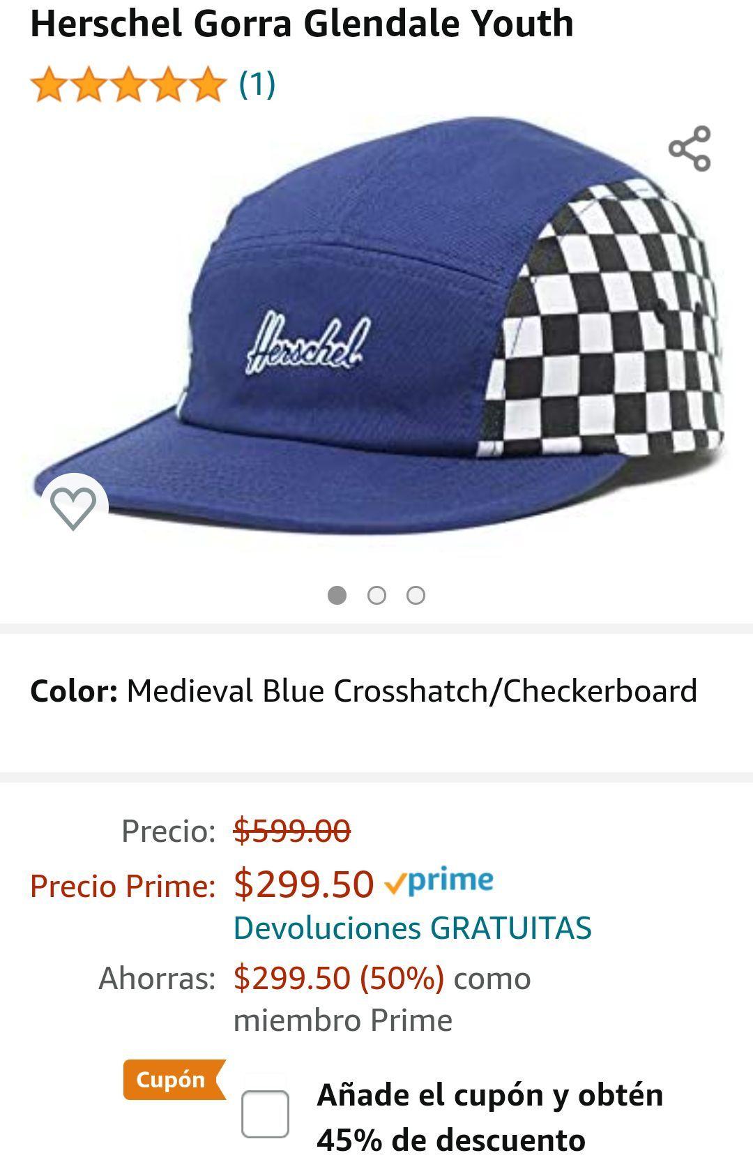 Amazon: Gorra Herschel Supply