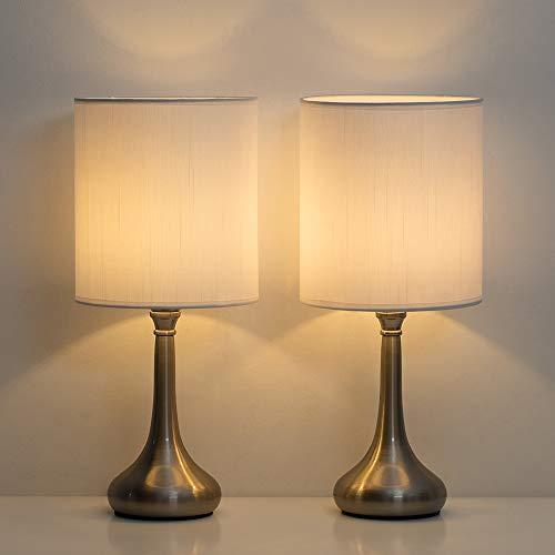 Amazon: HAITRAL - Juego de 2 lámparas de mesa de noche