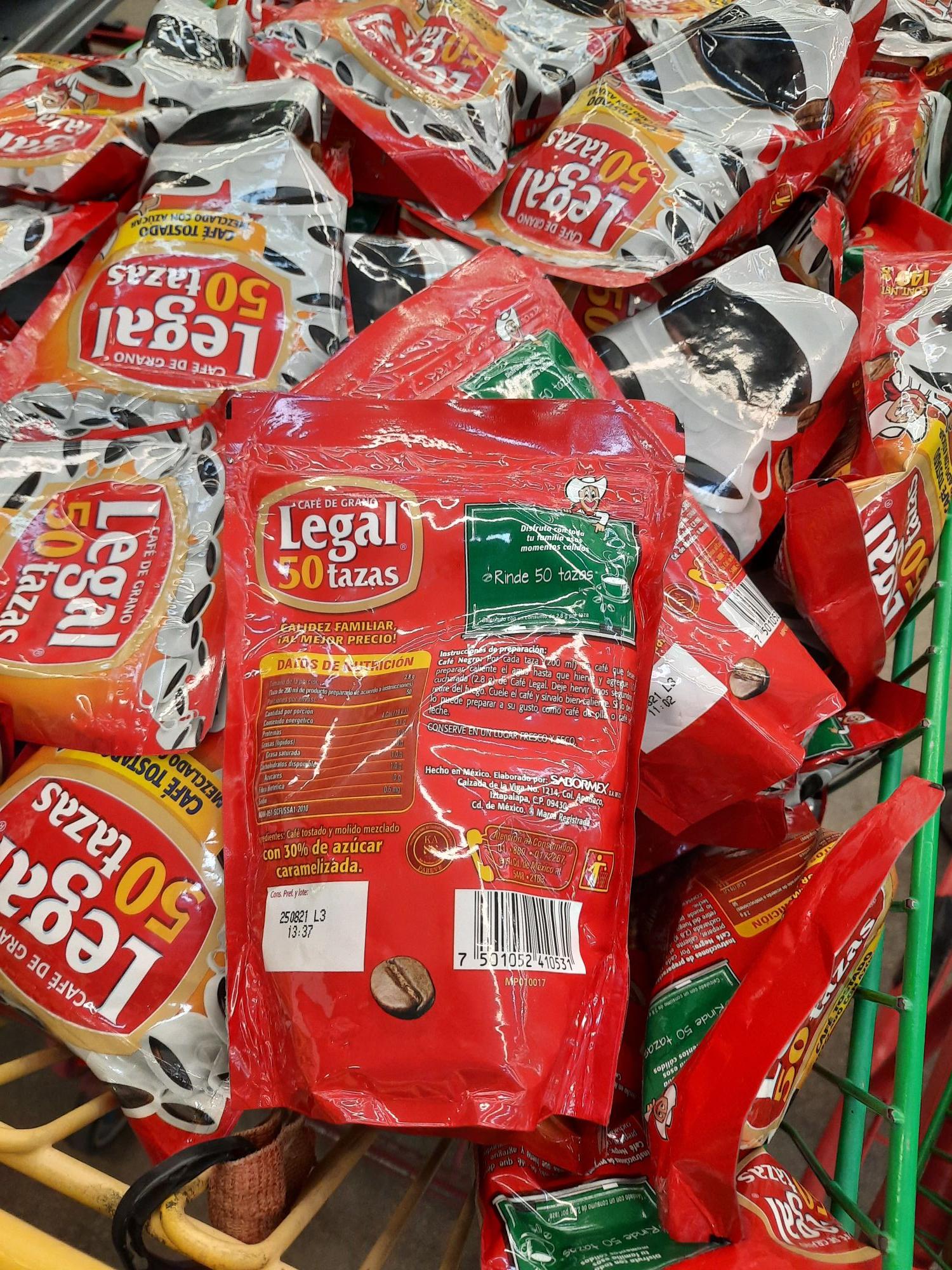 Bodega Aurrera: Cafe legal de grano
