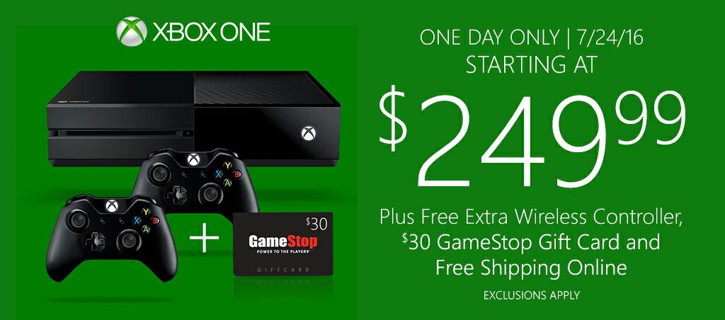 Gamestop: Oferta Xbox One Solo Hoy (no envía a México)