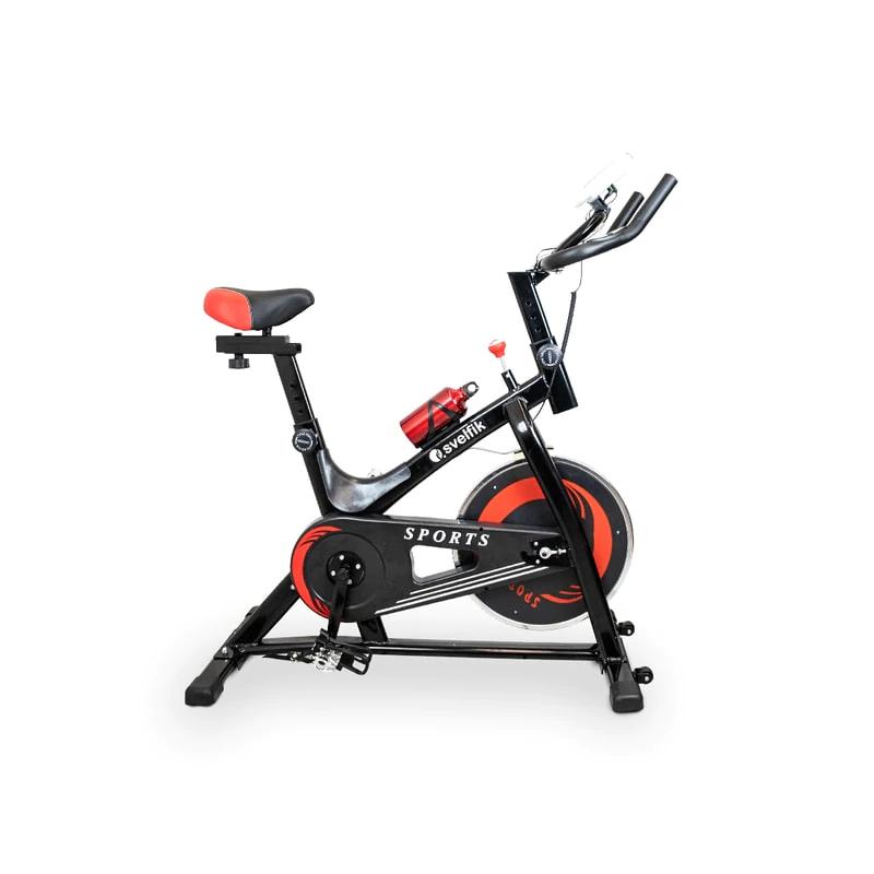 Claro Shop: Bicicleta Fija Spining Gimnasio 6kg Svelfik Cardio Gym 150kg