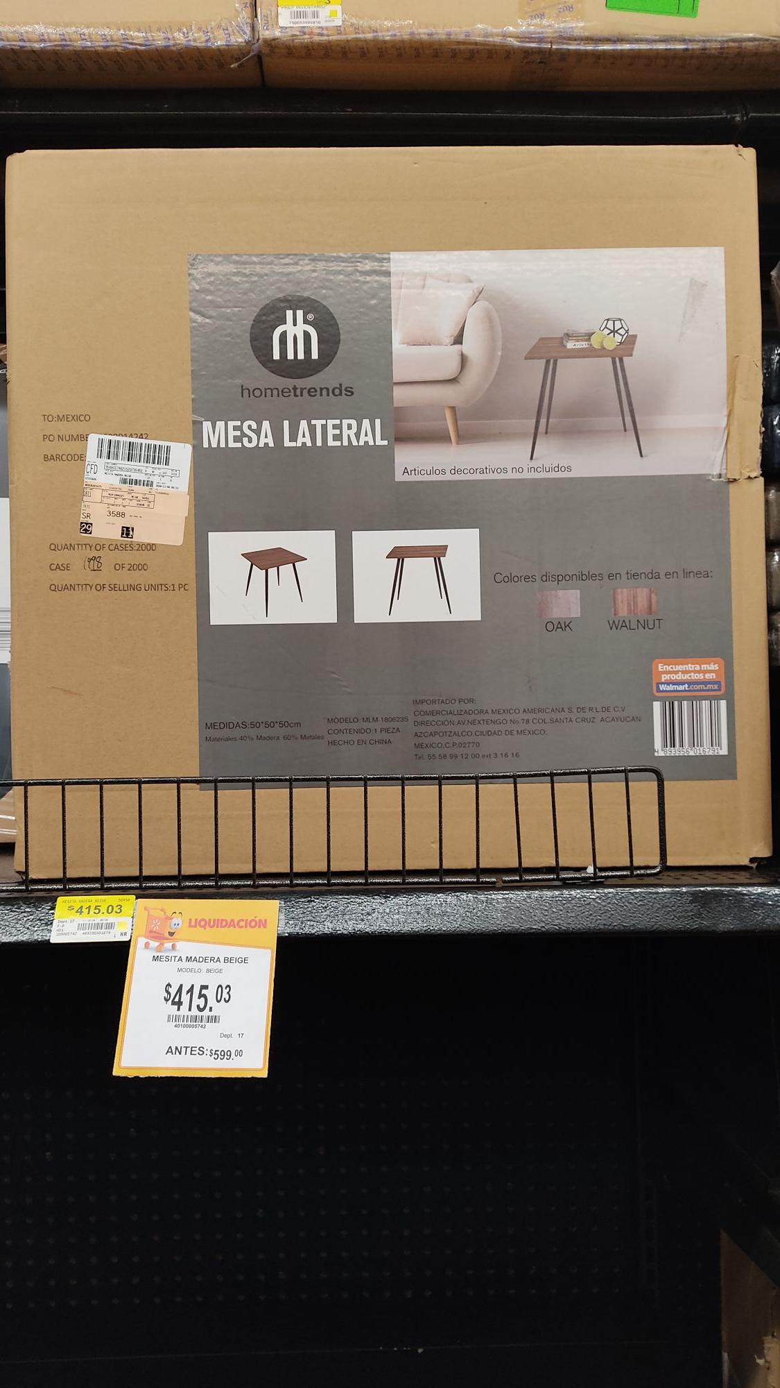 Walmart: Mesita coqueta para el cuarto