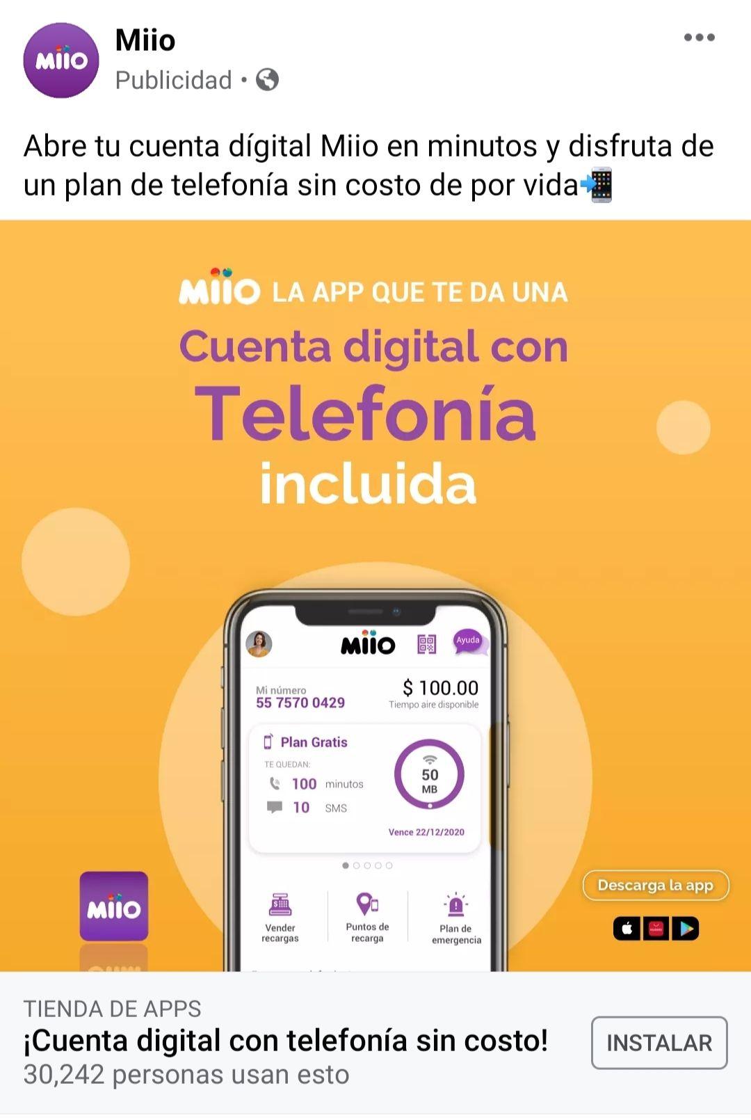 Miio: Telefonía gratuita que se renueva semanalmente