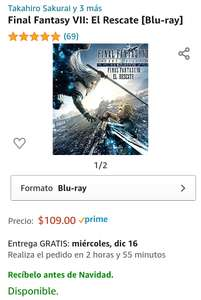 Amazon - Final Fantasy VII Advent Children Blu Ray