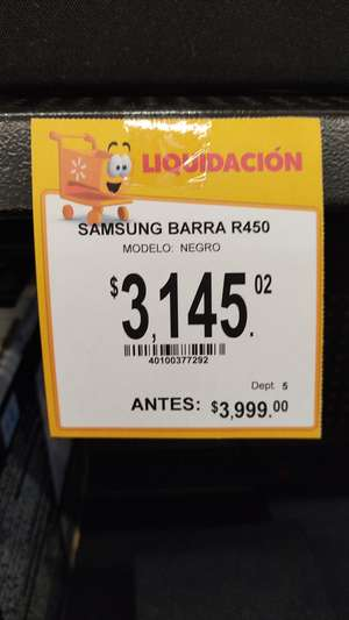 Walmart: Barra de Sonido con subwuffer Samsung