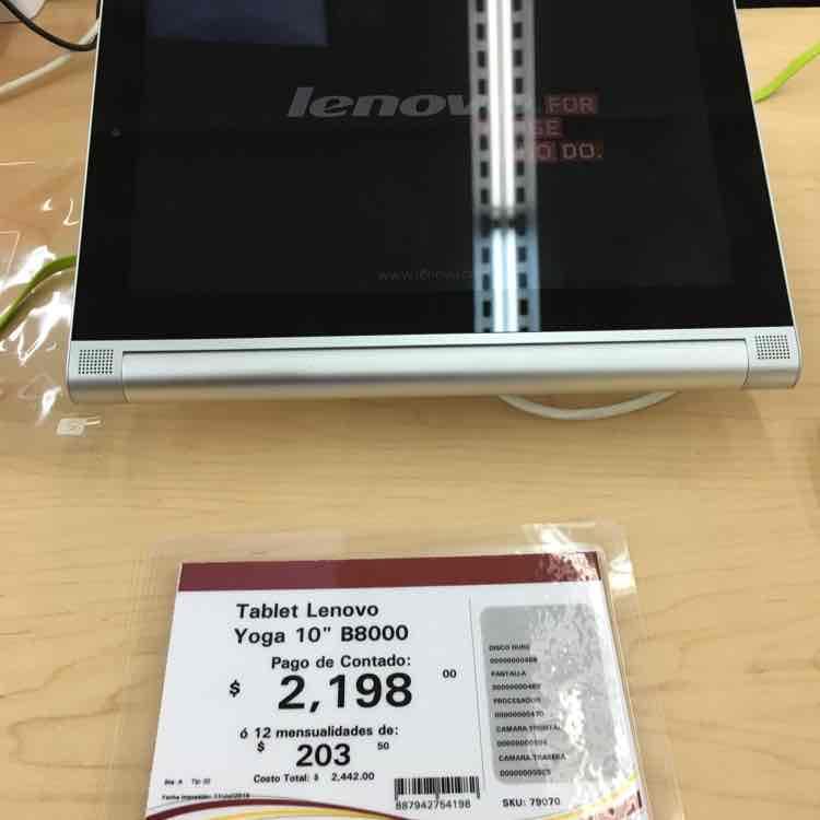 "Office Max: Lenovo Yoga Tab 2 10"" a $2,198"