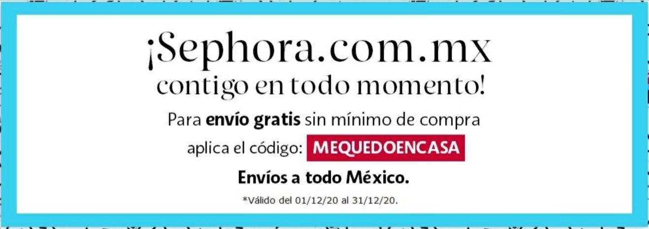 Sephora,Cupón para envío gratis sin mínimo de compra.